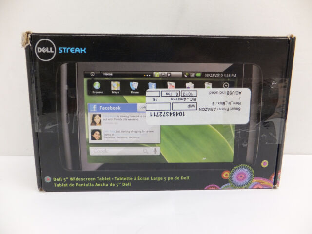 BROKEN!!! Dell Streak 5 Unlocked Android Tablet Smartphone (16GB, GSM, WiFi + 3G