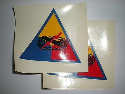 US ARMY - ARMORED FORCES 1950'S ERA M1 DECALS - 1 PAIR