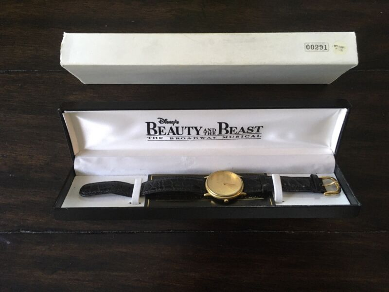 RARE Limited Edition Disney Fossil Beauty & The Beast Broadway Musical Watch