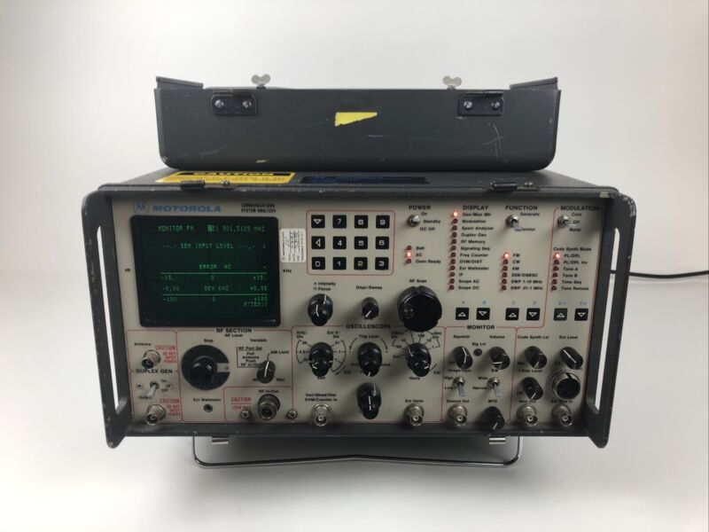 MOTOROLA Communications System Analyzer Model R2038D/HS With Extras