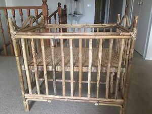 Vintage Cane baby cot Dingley Village Kingston Area Preview