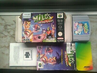 Milo's Astro Lanes, Nintendo 64 PAL version VGC! (very rare N64 CIB)