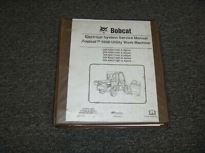 Bobcat Toolcat 5600 Utility Work Machine Electric Diagnosis Troubleshoot Manual
