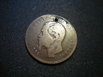 1866 ITALY 10 CENTESIMI COIN