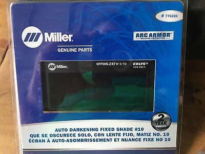 Miller Electric 770226 Welding Lens 2 X 4 In 10 Auto-darkening