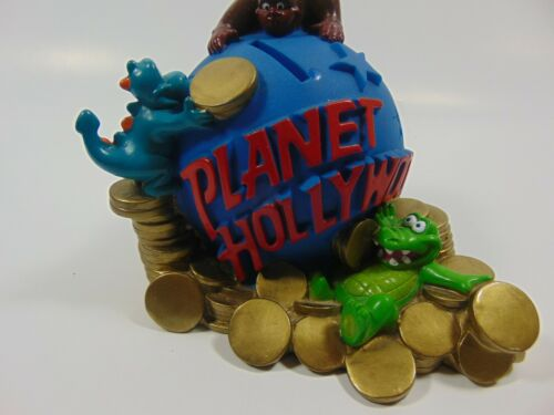 "Planet Hollywood Coin Bank With Stopper 5"" Tall 6""L"