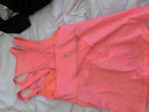 lululemon workout pink top