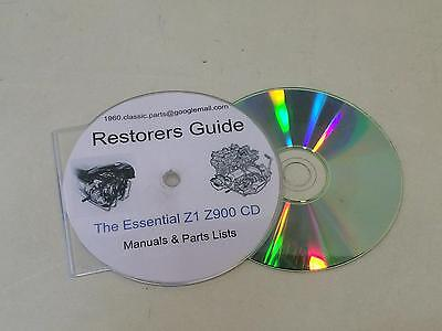 Essential Restorer Guide KAWASAKI Z1 Z1A Z900 Z1000 Z1000R GPZ1100 Parts List CD