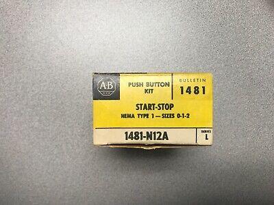Allen Bradley 1481-n12a Push Button Kit Start-stop Nema Type 1 Sizes 0-1-2 Ser L