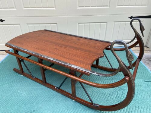 VINTAGE TELL CITY SLEIGH COFFEE TABLE