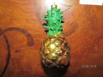 Christmas Pineapple - Glass Christmas ornament, pineapple .