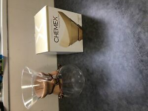 Pour over coffee maker Chemex brand and filters