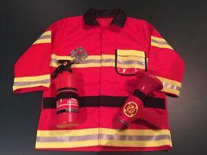 Kids Firefighter / fireman/ fire Chief Costume