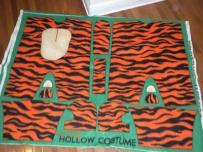 JOANN FABRICS BRAND HALLOWEEN SPOOKY TIGER COSTUME FLEECE FABRIC PANEL