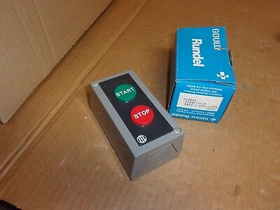 Gould Rundel Start - Stop Switch In Enclosure H12k4s