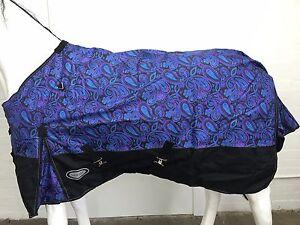 AXIOM 1800D BALLISTIC WATERPROOF PAISLEY 300g HORSE RUG - 6' 0
