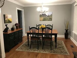 Beautiful Birch Topped Dining room set