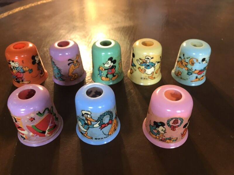 Vintage Walt Disney Christmas Light Covers Mickey Mouse Donald Duck Early!