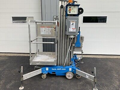 2012 Genie Awp30s 30 Electric Personnel Scissor Vertical Mast Man Lift Manlift