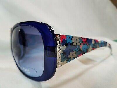 Circus by Sam Edelman Sunglasses Oversized Blue Floral temples & Faux (Circus By Sam Edelman Sunglasses)