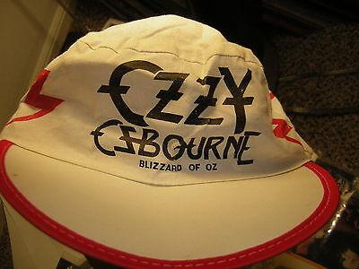 OZZY OSBOURNE HAT VINTAGE 1981 BLIZZARD OF OZ RANDY RHOADS