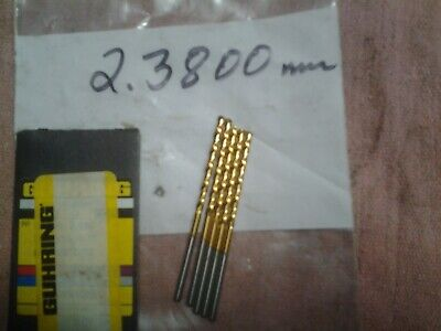 Guhring Micro Precision Cobalt Drill Bit 205 Series 2.380mm .0937 5 Pcs.