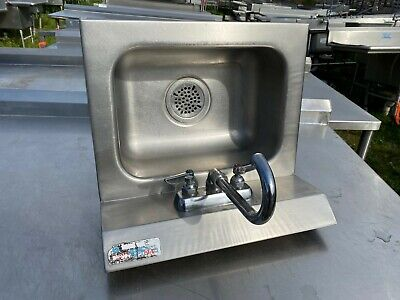 Amtekco 18 X 15.5 Commercial Wall Mount Stainless Steel Hand Wash Sink Nsf