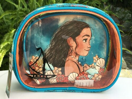 "Disney Loungefly ""MOANA"" 2 Piece Cosmetic Make Up Bag Set Pouch Purse NWT"