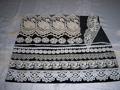 LOT VINTAGE CROCHET LACE ~ VARYING LENGTHS  & PIECES
