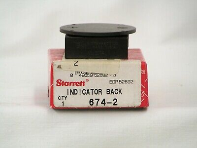 New Starrett Dial Indicator Back With Adjustable Mounting Bracket 674-2