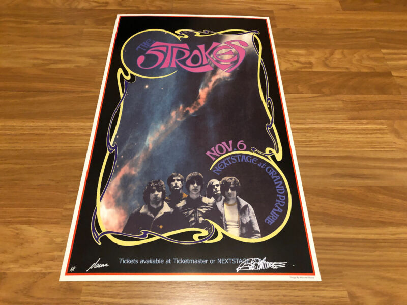 The Strokes At Grand Prairie Artists Signed Print