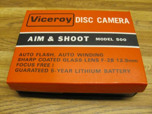 Vintage VICEROY Disc Camera Aim & Shoot Model 500 New/old Stock
