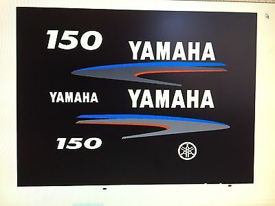 Yamaha Outboard Motor Decal Kit 150 hp 2 Stroke Kit - Marine Vinyl NOT ink-jet