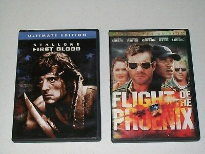 FIRST BLOOD & THE FLIGHT OF THE PHOENIX DVDs