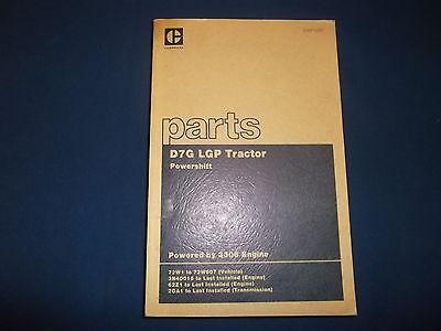 Cat Caterpillar D7g Lgp Crawler Tractor Dozer Parts Book Manual Sn 72w1-607