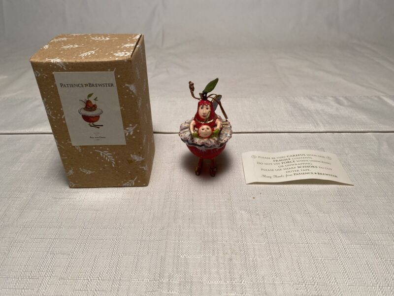 Patience Brewster Pear with Cherry Ornament NIB