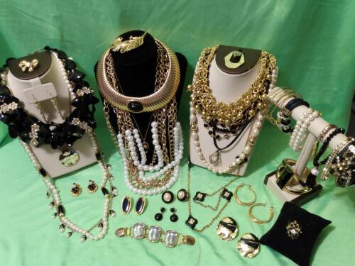 Stunning Jewelry Lot Gold tone/Faux pearls Rhinestones  3 lbs