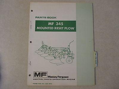 Massey Ferguson 345 Plow Parts Manual