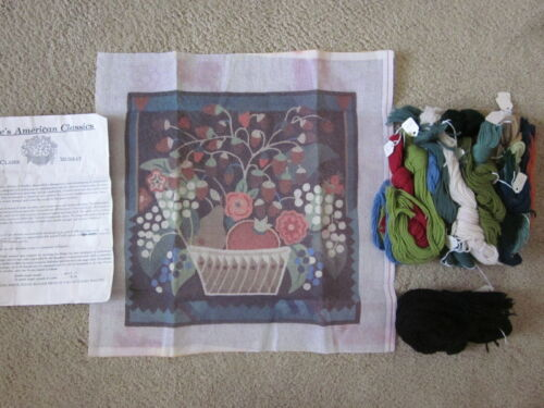 Claire Murray Strawberry Basket needlepoint canvas kit