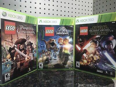 Xbox 360 LEGO Games Pirates Of The Caribbean Jurassic World Star Wars Force Awak