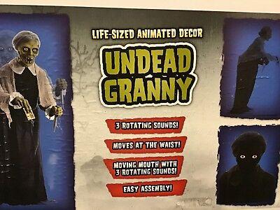 Spirit Halloween Prop Psycho Undead Granny Animated LIFESIZE Bates Motel UNOPEND - Granny Halloween