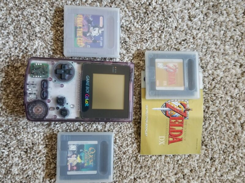 Nintendo Gameboy Color With 3 Games