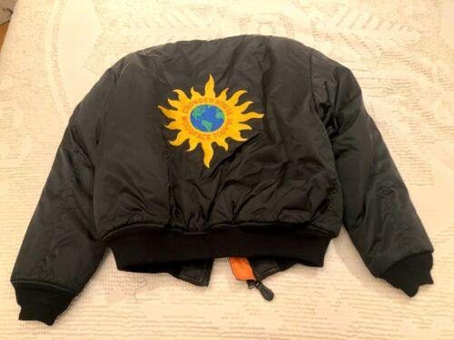 OFFICIAL 1991 VINTAGE CROWDED HOUSE WOODFACE TOUR JACKET - NEIL FINN