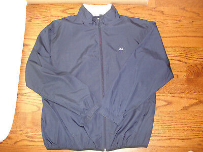 MEN'S NAVY LACOSTE LIGHTWEIGHT FULL ZIP JACKET BABY GATOR XL