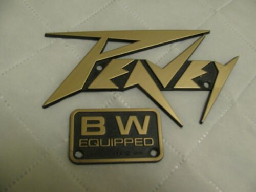 "PEAVEY ""GOLD"" PLASTIC LOGO WITH BLACK WIDOW BADGE"