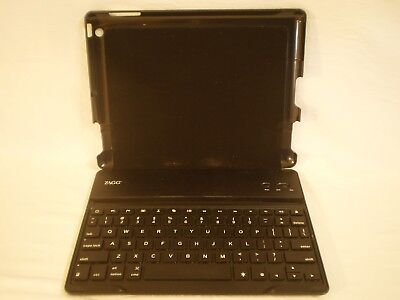 ZAGG QTG-ZKPRO FOLIO CASE BLUETOOTH KEYBOARD for IPAD 2/3/4, used for sale  Shipping to India