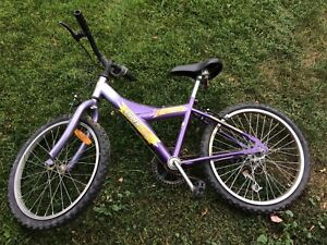 Small purple kids bike