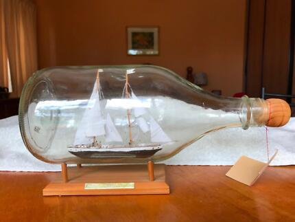 Young Endeavour ship in a bottle