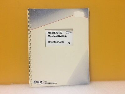Metone Pacific Scientific A2432 Manifold System Operating Guide