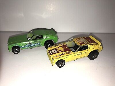 Vintage Hot Wheels Blackwalls - 1969 Show Hoss Mustang 2 Funny Car Yellow - HK